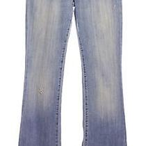 Ag Adriano Goldschmied Blue Distressed the Angel Boot Cut Jeans Sz 26 Photo