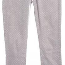 Ag Adriano Goldschmied Gray White Polka Dot Stevie Ankle Jeans Size 25 Photo