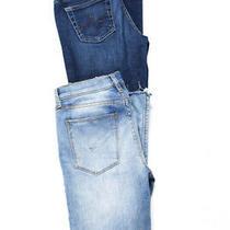 Ag Adriano Goldschmied Hudson Cotton Denim Slim Cut Jeans Blue Size 27 26 Lot 2 Photo