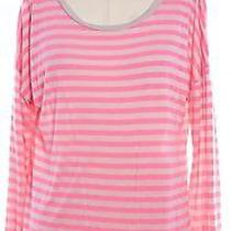 Ag Adriano Goldschmied New Nwt 66 Pink Beige Striped Tee Top Size L Photo
