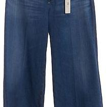 Ag Adriano Goldschmied Nwt Ag-28824 Blue Wide Cropped Leg Jeans Size 28 Photo