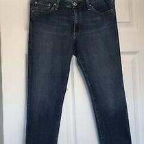 Ag Adriano Goldschmied Premiere Cuff Crop Skinny Straight Jeans Size 29 Photo