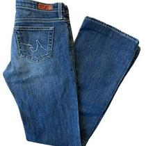 Ag Adriano Goldschmied the Angel Bootcut Women's 28r Medium Wash Fade Blue Jeans Photo