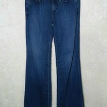 Ag Adriano Goldschmied the Glisten Wide Leg Blue Jeans Women's 25 Regular Photo