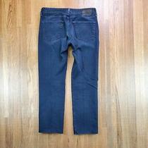 Ag Adriano Goldschmied the Graduate Tailored Leg Jeans Sz 33x30 Dark Blue Photo