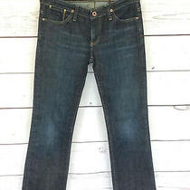 Ag Adriano Goldschmied the Kiss Jeans Size 27r Blue Dark Wash Inseam 28