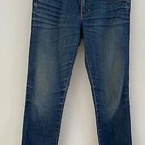 Ag Adriano Goldschmied the Stilt Cigarette Leg Jeans in 10 Years Blue Size 27 Photo