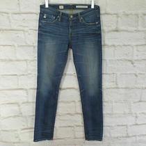 Ag Adriano Goldschmied the Stilt Jeans Skinny Cigarette Leg Womens W 27 Reg Blue Photo