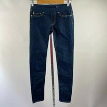 Ag Adriano Goldschmied the Tights Skinny Jeans Pull on Size 26 Skd1298 Blue Photo