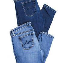 Ag Adriano Goldschmied Womens Skinny Jeans Blue Denim Size 28 29 Lot 2 Photo