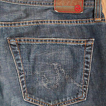 Ag Jeans the Prime Relaxed Fit Straight Leg Men's Size 36 X 30 Drk Wash Euc Photo