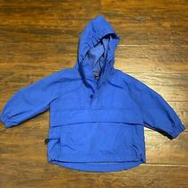 Against the Elements Boys Size 2-4 Blue Hooded Windbreaker Packable Jacket Photo