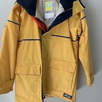 Against the Elements Lined Rain Jacket Fowl Weather Hear Mens Small Yellow Photo