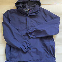 Against the Elements Mens  Sz Xl  Blue Hooded Raincoat Windbreaker Jacket Photo