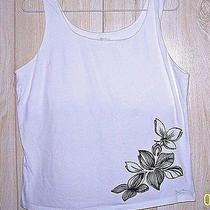 Against the Elements Women's Sz L Sleeveless Cotton Knit Top White Photo