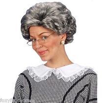 Agatha Christie Grey Wig Murder Mystery Crime Old Lady Tv Granny Fancy Dress Photo
