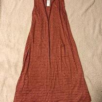 Agnes & Dora Shadow Vest Duster Blush Size M/l Bnwt Photo