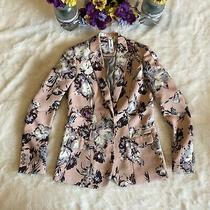 Agnes & Dora Wms Sz Xs Blush Pink Lined Floral Print Blazer Career Euc Photo