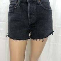 Agolde Jean Shorts Size 24 Black Denim Parker Short New  Photo