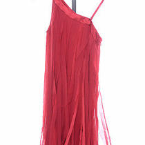 Aidan Mattox 6 S Crimson Red One Shoulder Shred Trapeze Dress 240 New Gqg692 Photo