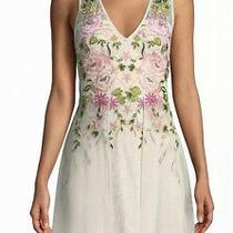 Aidan Mattox Pink Blush Floral Lace Beaded Women's Size 6 Sheath Dress 440 Photo