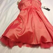 Aidan Mattox Strapless Taffeta Dress  Size 12 Color  Coral Photo