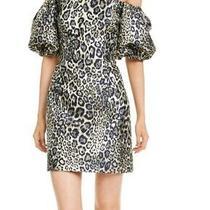 Aidan Mattox Women's Dress Gold Size 2 Sheath Metallic Off-Shoulder 220 053 Photo