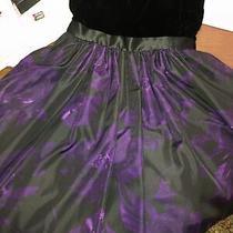 Aidan Mattox Womens Dress Purple Size 0 Velvet and Silk Cocktail Dress Pockets Photo