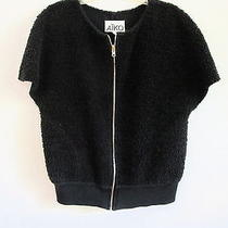 Aiko Solid Black Zippered Vest - L/xl Photo