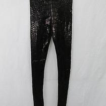 Aiko Women's Black Duff Lacquered Leggings Size S Made in Usa Nwt Photo