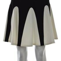 Aiko Womens Skirt Size M Black White Color Block a-Line Above Knee Photo