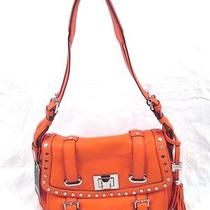 Aimee Kestenberg Nina Hobo Leather Purse Tangerine Orange Nwt 288 Photo