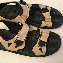 Air Balance Mens  Comfort Sandals White/black Size 12 Photo