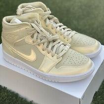 Air Jordan 1 Mid Se 'Fossil- White' Sneakers Size 11.5 W / 10 M Ck6587-200 Photo
