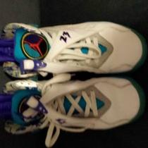 Air Jordan 8 Retro 7.5 White/aqua Photo