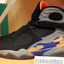 Air Jordan 8 Retro Viii Phoenix Suns Sz 11 Bugs Aqua Playoff Og Laney 1 3 4 11 Photo