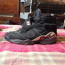 Air Jordan Retro 8 Viii Sz 6y Black Red Playoffs Bugs Bunny Aqua Photo