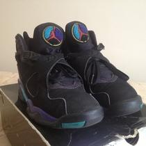 Air Jordan Viii (8) Black Concord Aquatone Aqua Sz 8.5  Photo