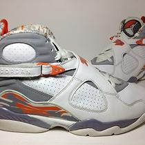 Air Jordan Viii 8 White Orange Blaze Stealth Aqua  Sz 10.5 Photo