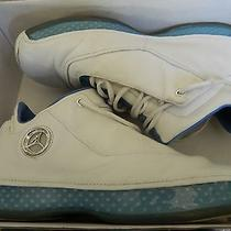Air Jordan Xviii Low Size 8.5 With Box White Chrome University Blue 306151 104 Photo