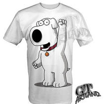 Airbrushed Brian Griffin Family Guy Dog White T-Shirt Sizes Up to 3xl Photo