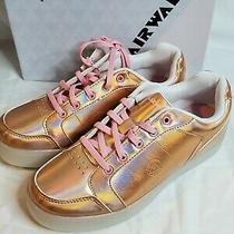 Airwalk Kids' Jazz Low-Top Light-Up Sneaker Rose Gold Big Kid Size 4.5 New Photo
