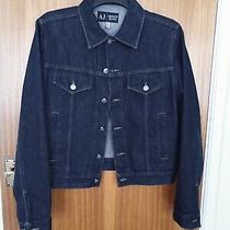 Aj Armani Jeans Dark Blue Indigo Denim Jacket Vintage Size M Uk Photo