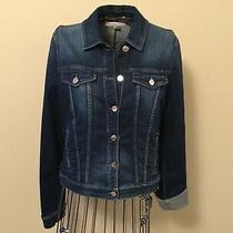 Aj Armani Jeans  Stretchy Denim Jacket Size 46 (10). Photo
