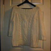 Ak Anne Klein Cable Knit Sweater Photo