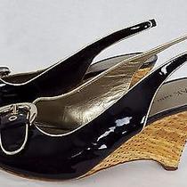 Ak Anne Klein Leather Heels Womens Size 10 M Photo