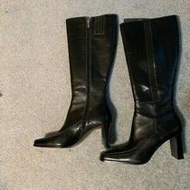 Ak Anne Klein Maestro Knee High Boots - Black - Size 8 Photo