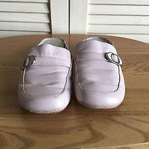 Ak Anne Klein Powder Pink Leather Mules Womens Size 7.5m Photo