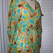 Ak Anne Klein Sedona Dolman Womens New W/tags ret.225 100% Silk Medium Med M  Photo