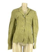 Ak Anne Klein Size 8 Linen Women Unlined Blazer Jacket  Ad20 Photo